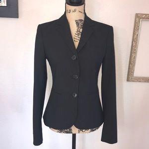 Limited Black Pinstripe Suit Coat Size 2